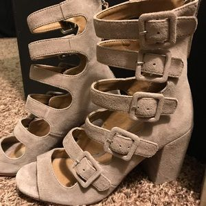 Chinese Laundry Twilight Suede Peep Toe Bootie